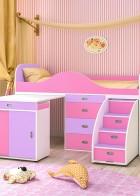 """Кровать-чердак  """"Малыш люкс"""""""
